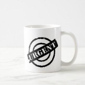 stamp urgent black mugs