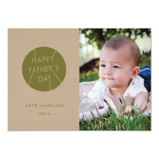 "Stamped Father's Day Card - Army 5"" X 7"" Invitation Card"
