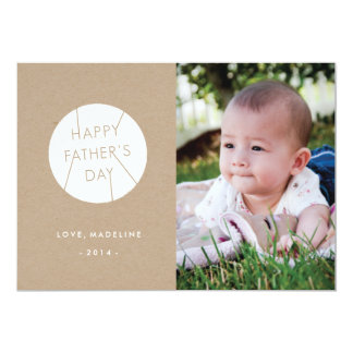 "Stamped Father's Day Card - White 5"" X 7"" Invitation Card"