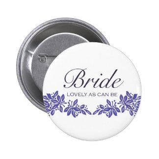 Stamped Floral Wedding Design Pins