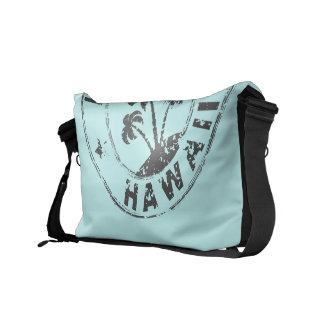 Stamped Hawaii Messenger Bags