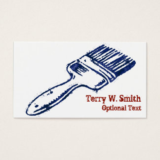Stamped Paint Brush Business Card
