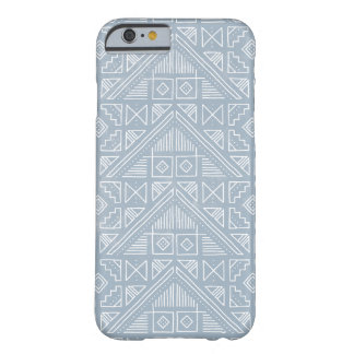 Stamped Pattern Phone Case - Chambray