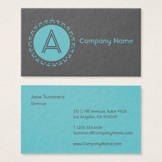 Stamped Spot Blue Dark Business Card
