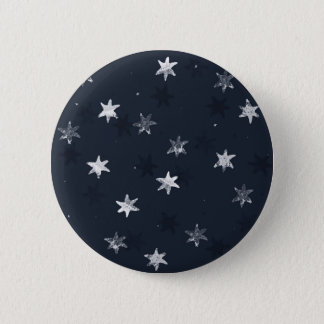 Stamped Star 6 Cm Round Badge