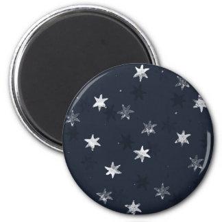 Stamped Star 6 Cm Round Magnet