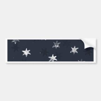 Stamped Star Bumper Sticker