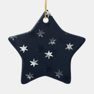 Stamped Star Ceramic Star Decoration