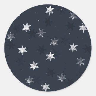 Stamped Star Classic Round Sticker