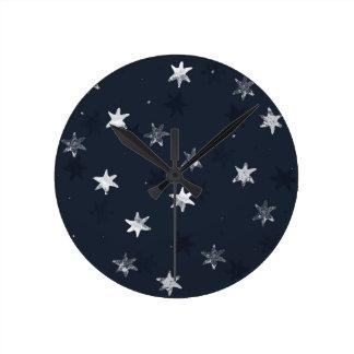 Stamped Star Clocks