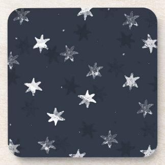 Stamped Star Drink Coasters