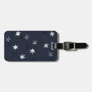 Stamped Star Luggage Tag
