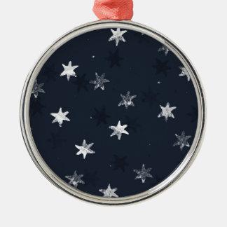 Stamped Star Metal Ornament