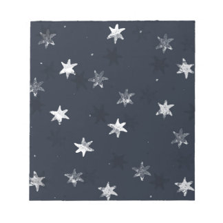 Stamped Star Notepad