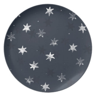 Stamped Star Party Plates