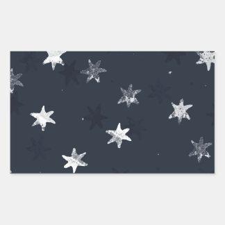 Stamped Star Rectangular Sticker