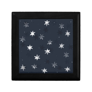 Stamped Star Small Square Gift Box