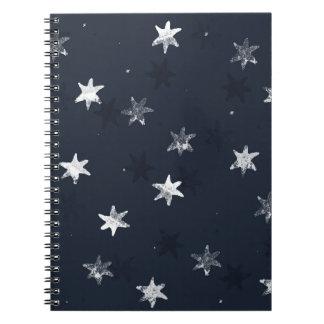 Stamped Star Spiral Notebook
