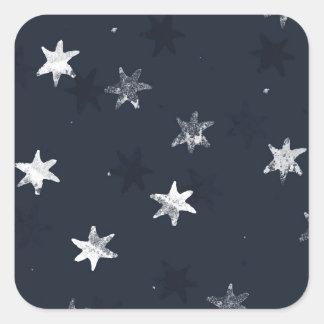 Stamped Star Square Sticker