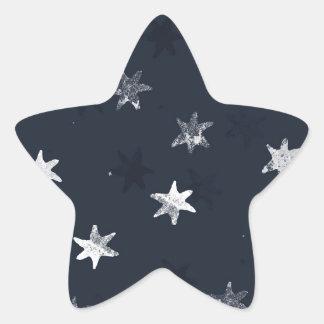 Stamped Star Star Sticker