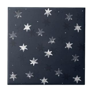 Stamped Star Tile