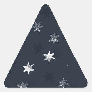 Stamped Star Triangle Sticker