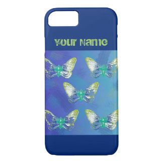 Stamped Style Butterfly Your Name Iphone Case