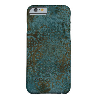 Stamped Teals Greens and Black Celtic Design Barely There iPhone 6 Case