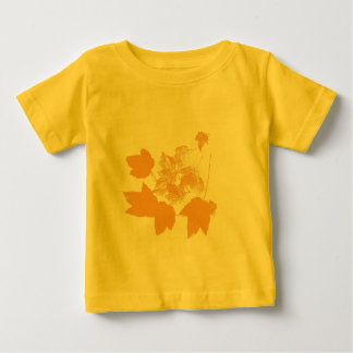 Stamped Yellow Maple Leaves Toddler T Shirt