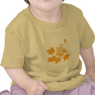 Stamped Yellow Maple Leaves Toddler T-shirts