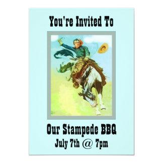 Stampede BBQ Card
