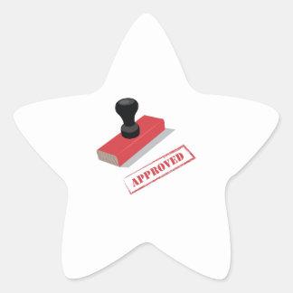 Stamper_Approved Star Sticker