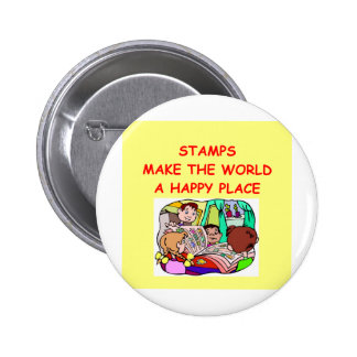 stamps pinback buttons