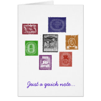 Stamps Notecard Note Card