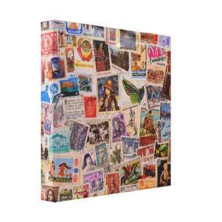 Stamps of World - Canvas art Canvas Prints