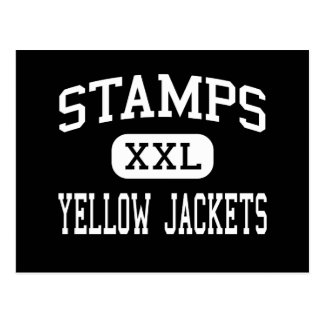 Stamps - Yellow Jackets - High - Stamps Arkansas Postcard