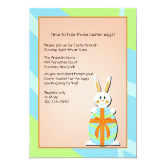 Stand Alone Easter Bunny Invitation