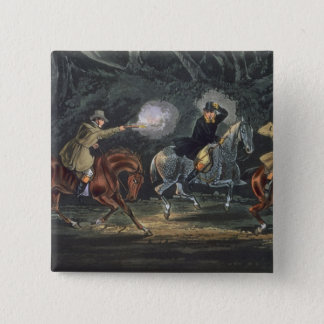 Stand and Deliver, aquatinted by E. Duncan 15 Cm Square Badge