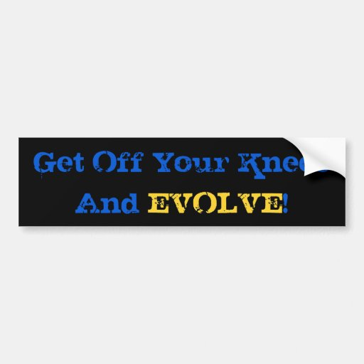Stand And Evolve Bumper Stickers