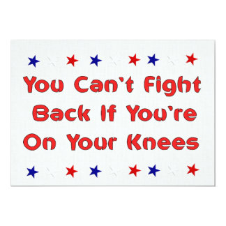 Stand and Fight 13 Cm X 18 Cm Invitation Card