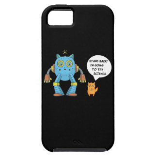 Stand Back Going To Try Science Funny Robot Cat Case For The iPhone 5