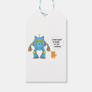 Stand Back Going To Try Science Funny Robot Cat Gift Tags