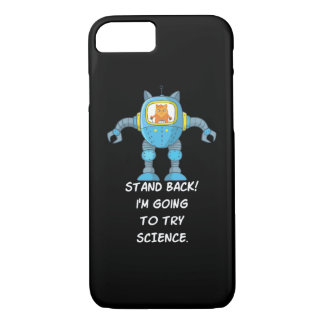 Stand Back Going To Try Science Funny Robot Cat iPhone 8/7 Case