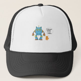 Stand Back Going To Try Science Funny Robot Cat Trucker Hat