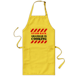 Stand back grandad is cooking graphic cooks apron