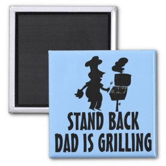 Stand Back Square Magnet