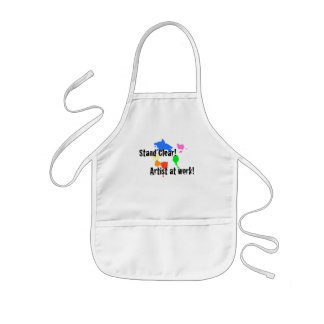 Stand Clear - Artist at Work Kids Apron