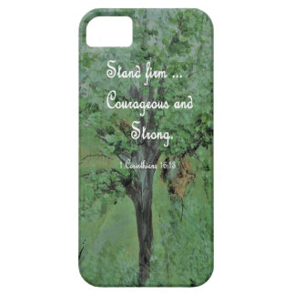 Stand Firm Courageous and Strong Barely There iPhone 5 Case