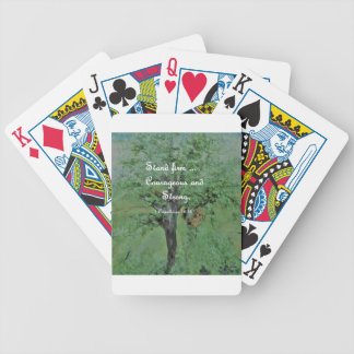Stand Firm Courageous and Strong Bicycle Playing Cards