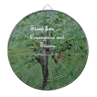 Stand Firm Courageous and Strong Dartboard